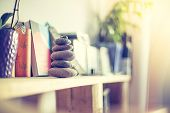 Feng Shui: Stone Cairn In The Living Room, Balance And Relaxation poster