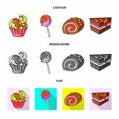 Isolated Object Of Confectionery And Culinary Symbol. Collection Of Confectionery And Product Stock  poster