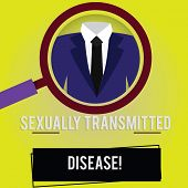 Handwriting Text Sexually Transmitted Disease. Concept Meaning Diseases Spread By Sexual Intercourse poster