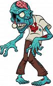 stock photo of zombie  - Cartoon zombie - JPG
