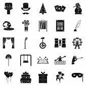 Magic Performance Icons Set. Simple Set Of 25 Magic Performance Icons For Web Isolated On White Back poster