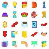 Break Icons Set. Cartoon Set Of 25 Break Icons For Web Isolated On White Background poster