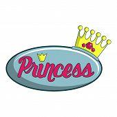Princess Show Icon. Cartoon Illustration Of Princess Show Icon For Web Design poster