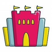 Princess Castle Icon. Cartoon Illustration Of Princess Castle Icon For Web Design poster