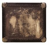Vintage travel square box with texture poster