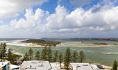 stock photo of bribie  - North tip of the Bribie Island seen from Caloundra in the Sunshine Coast, Australia.