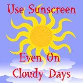 Постер, плакат: Используйте солнцезащитный крем плакат