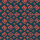 Tie Dye Japanese Geometric Modern Seamless Pattern. Scribble Cartoon Doodle Craft Texture. Boho Tie  poster