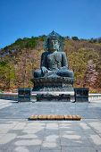 The Great Unification Buddha Tongil Daebul is a 14.6-meter 108 ton Bronze Buddha statue in Seoraksan poster
