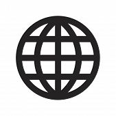 Grid World Vector Icon On White Background. Grid World Icon In Modern Design Style. Grid World Vecto poster