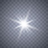 White Glowing Light Burst Explosion With Transparent.bright Star. Transparent Shine Gradient Glitter poster