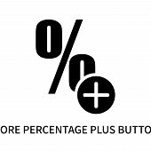 More Percentage Plus Button Icon Isolated On White Background. More Percentage Plus Button Icon Simp poster