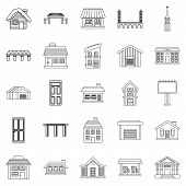 Creation Icons Set. Outline Set Of 25 Creation Icons For Web Isolated On White Background poster