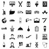 Craft Icons Set. Simple Style Of 36 Craft Icons For Web Isolated On White Background poster