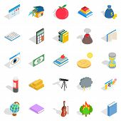 Chemical Reactions Icons Set. Isometric Set Of 25 Chemical Reactions Icons For Web Isolated On White poster