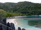 Jamaica Private Island. Beautiful Private Beach Background. Beach Landscape. poster