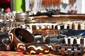 picture of curio  - African curios at a market in South Africa - JPG