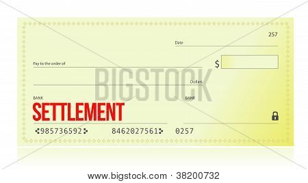 Settlement Bank Check
