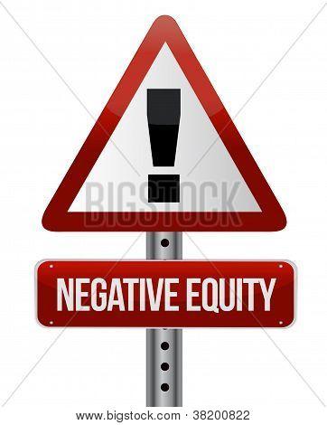 Negative Equity Sign Illustration