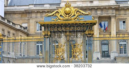 Gates Of The Palace Of Justice In Paris. France