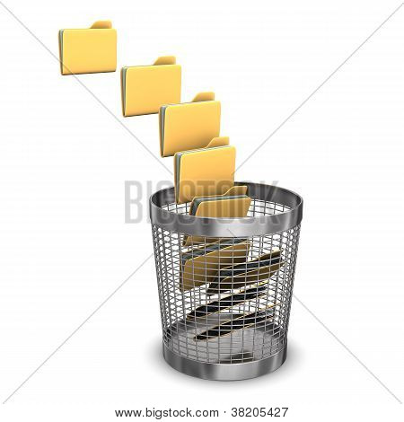 Nine Folders Wastebasket