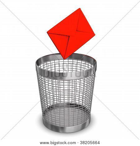 Letter Wastebasket
