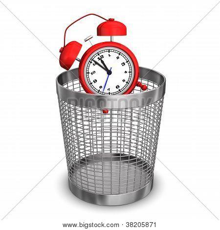 Alarmer In Wastebasket