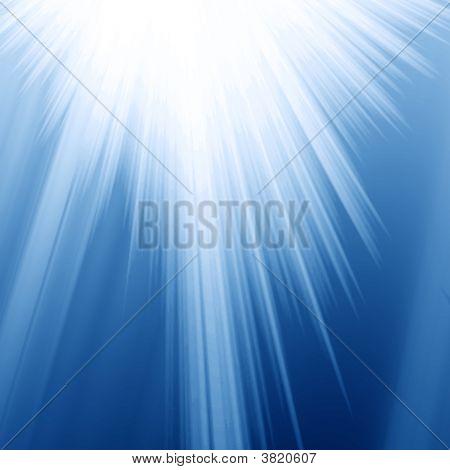 blau Strahlen