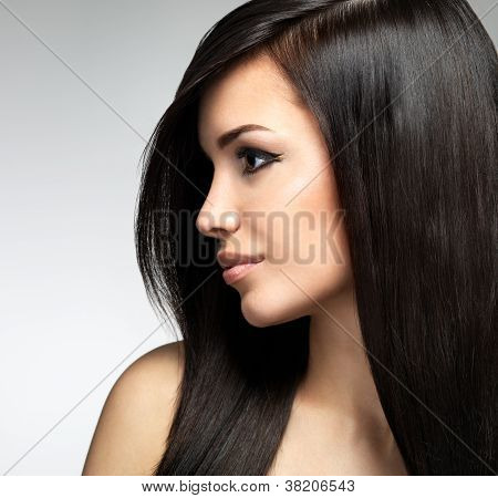 Pretty Woman With Long Brown Hairs