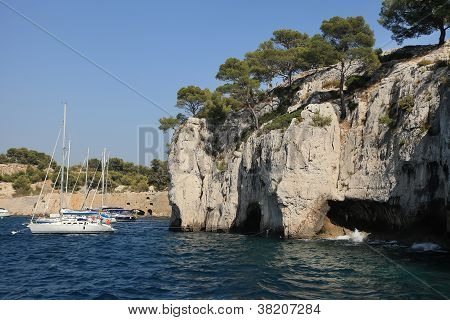 The Famous Calanques Of Cassis, Near Marseille, In Bouches Du Rhone (france)