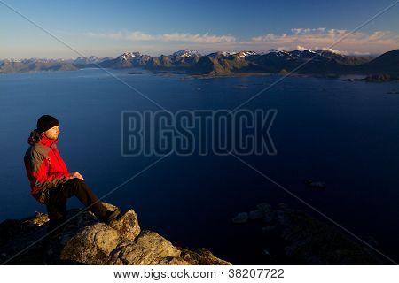 Picturesque Summit In Norway