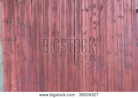 Old Red Plankd Barn Wall