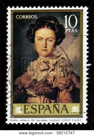 Maria Amalia De Sajonia By Vicente Lopez Y Portana