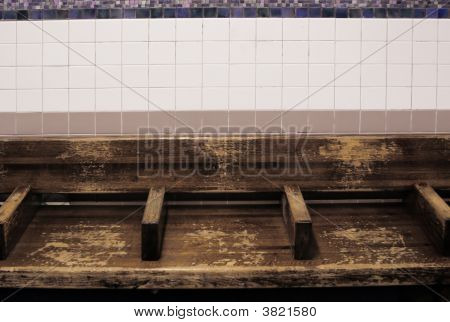 Empty Subway Bench