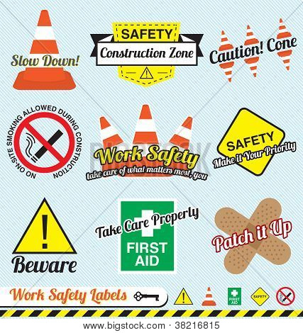 Work Safety and Construction Labels