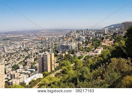 Blick vom Berg Karmel in Haifa in israel