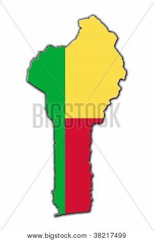 Stylized Contour Map Of Benin
