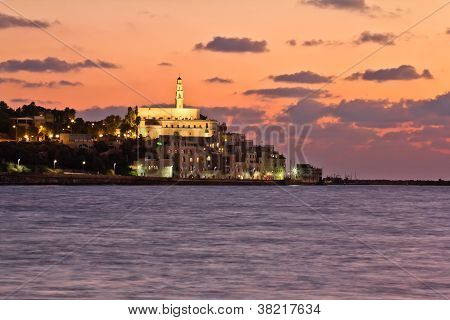 The Lights Of Jaffa At Sunset