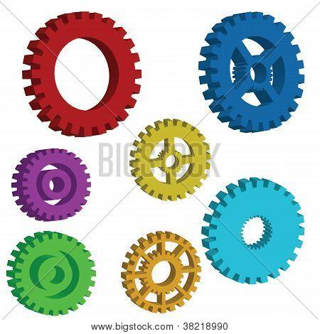 3D Mechanical Gears