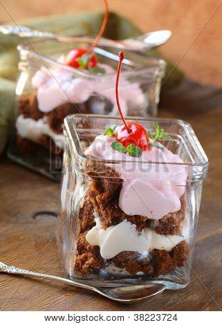 galletas de chocolate con crema, Bagatela en gafas