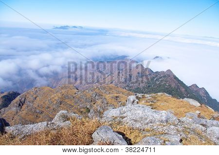 Ridge and cloud of china