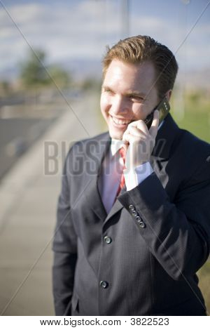 Businessman Cell Phone