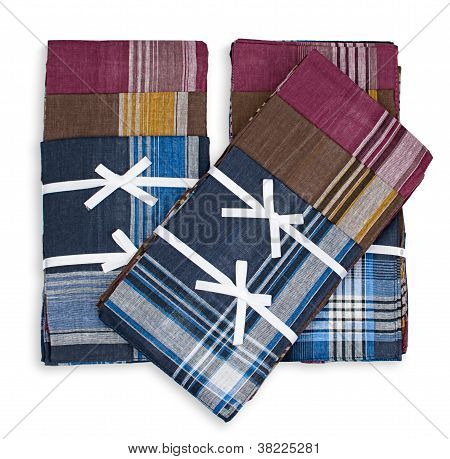 Set of three handkerchiefs