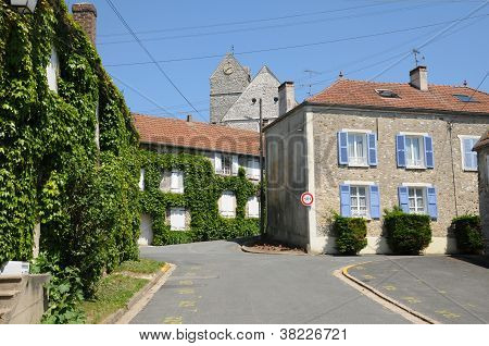 France, The Village Of Jumeauville  In Les Yvelines