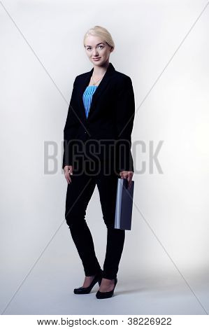 Woman With Note Book