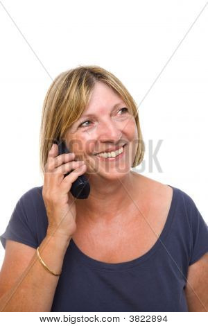 Senior Lady On Phone