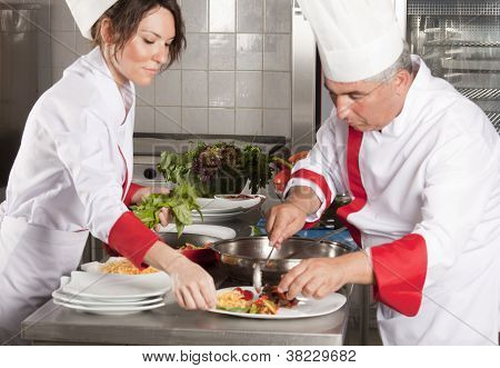 Two cooks working