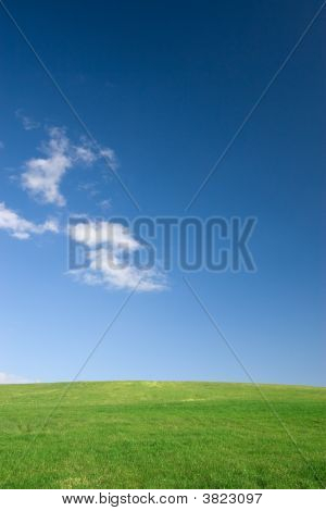 Empty Field And Sky