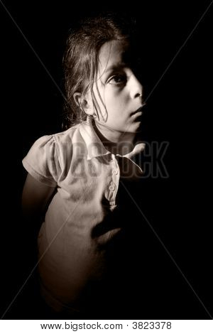 Young Child Looking Off Camera