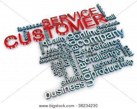 3D Customer Service Tags